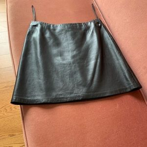 A real leather skirt by Cache